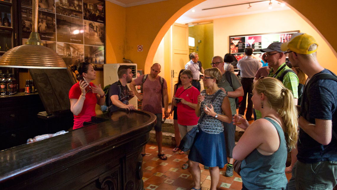 Group of tourist learning about Cuban Rums