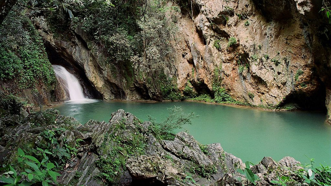 Natural pool in the Escambray