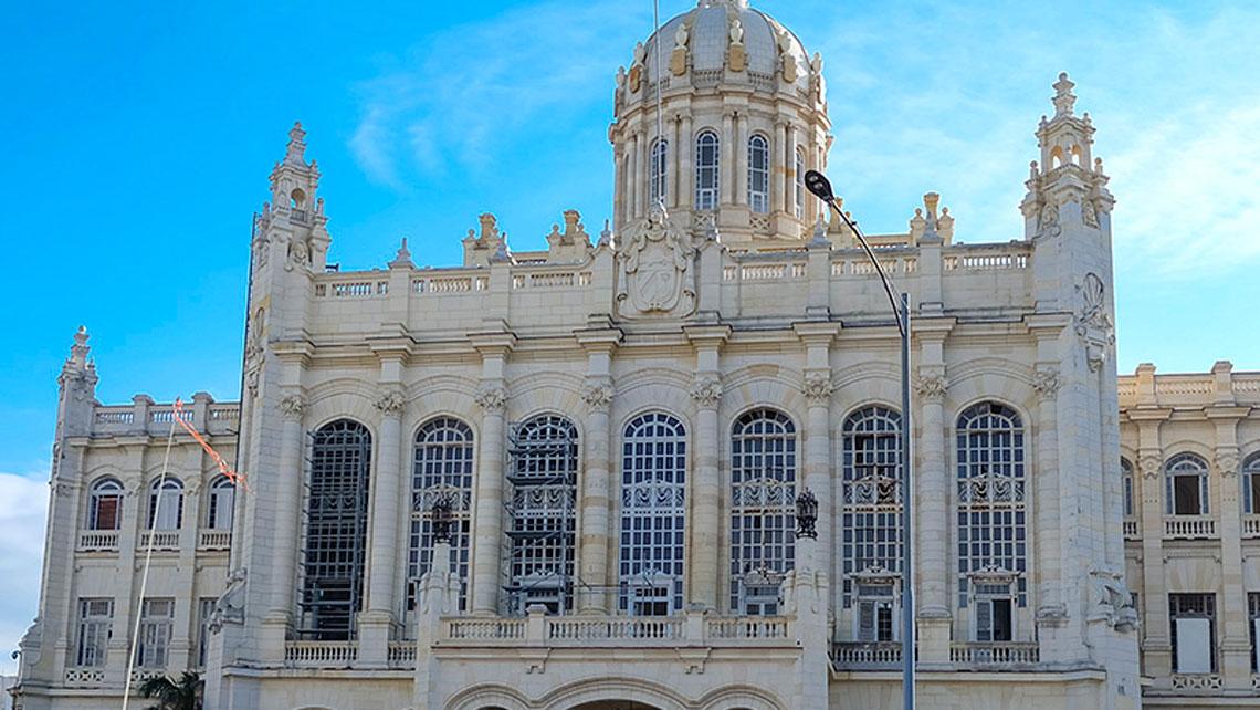 Facade of Revolution museum in Havana
