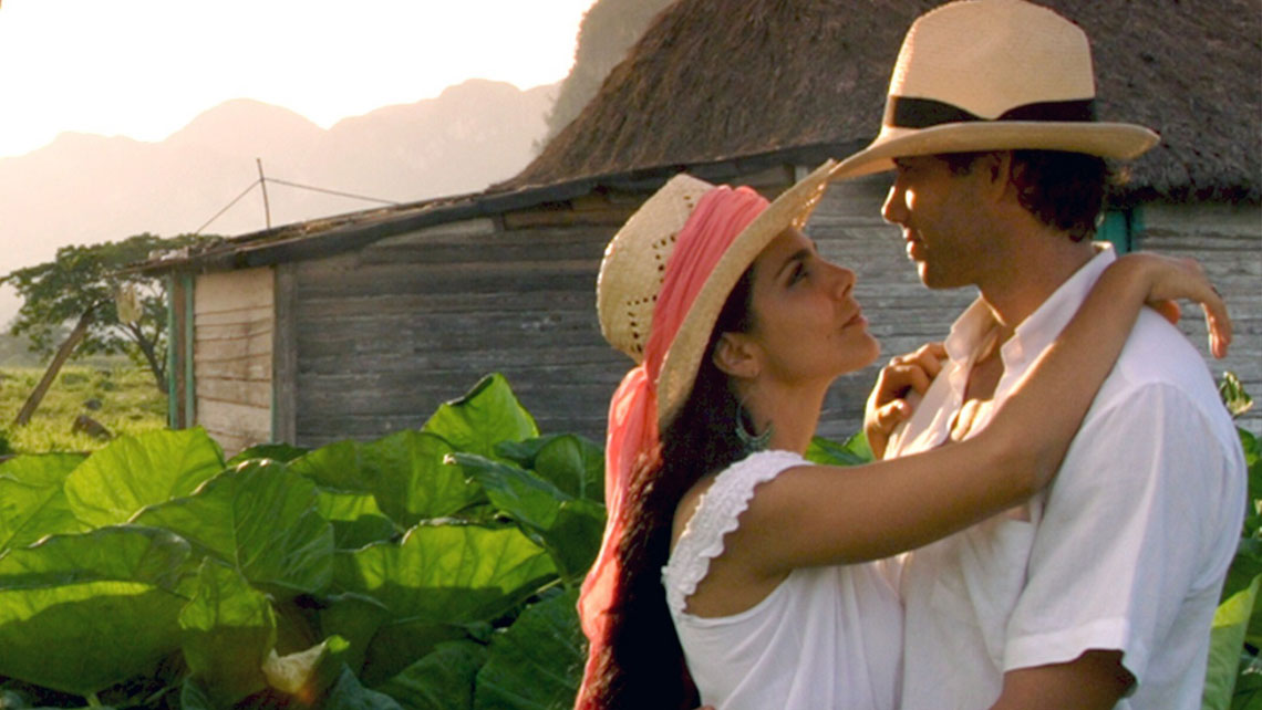 Young couple in love enjoying Cuban countryside