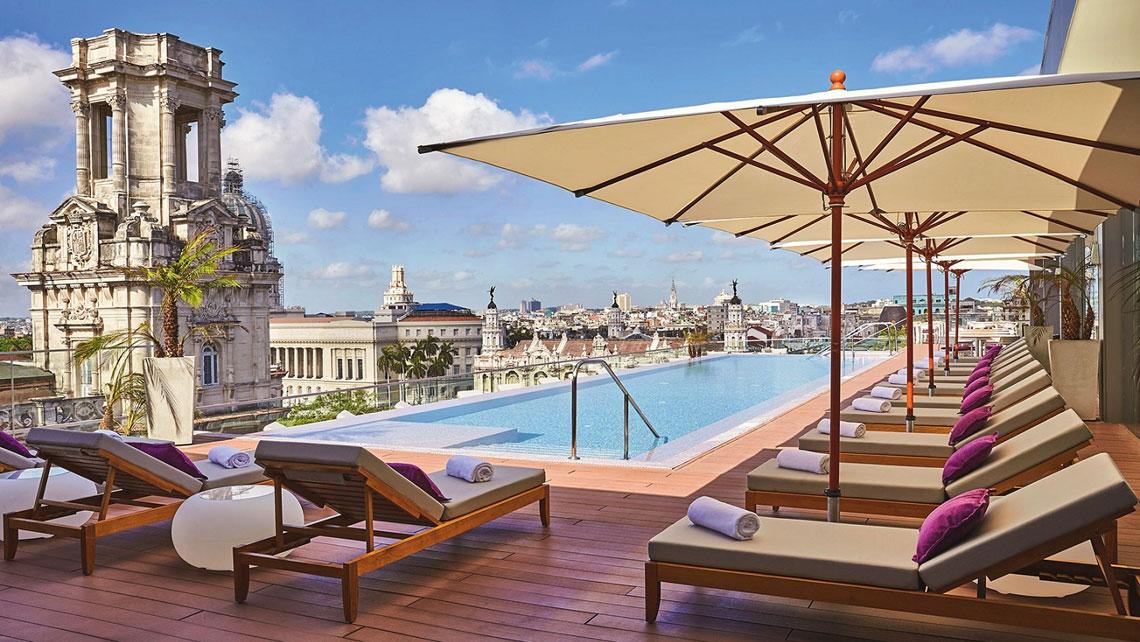 Amazing views of Havana from the rooftop of Grand Manzana Kempinski hotel