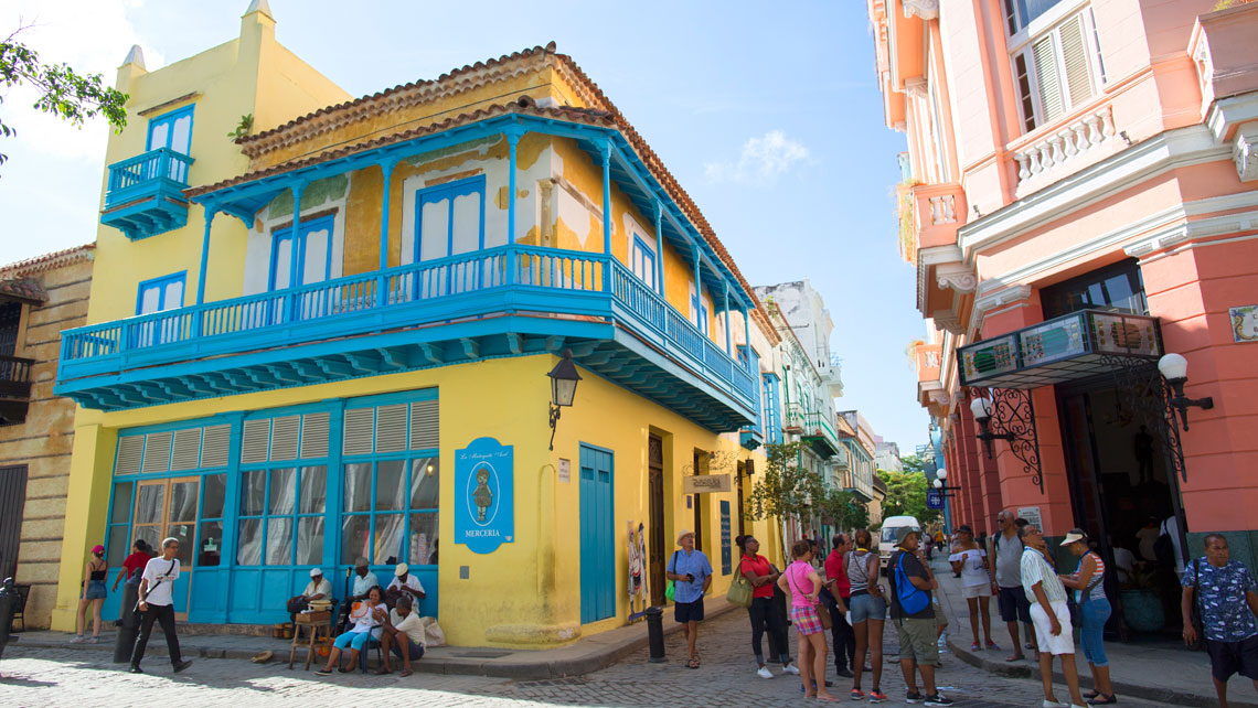 Colourful buildings in Old Havana