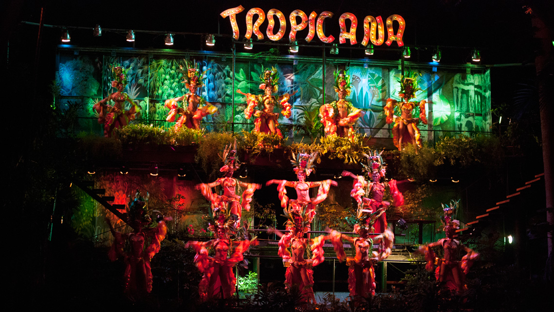 Dance performance at Tropicana cabaret club show