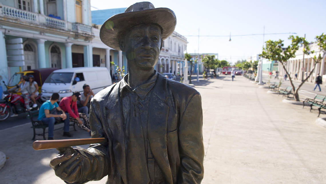 Statue of Benny More in Prado Avenue in Cienfuegos