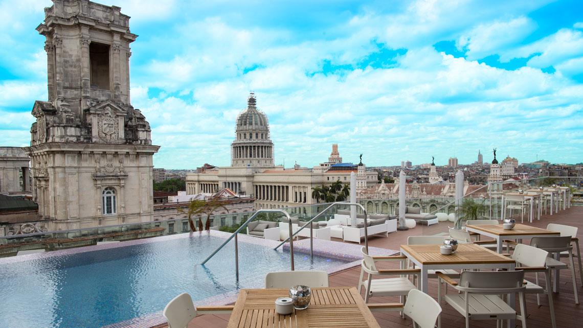 Panoramic view of Havana from the rooftop of Gran Hotel Manzana Kempinski