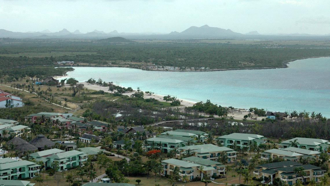 Aerial view of Playa Costa Verde