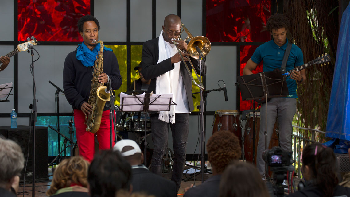 A band performing during International Jazz Festival of Havana