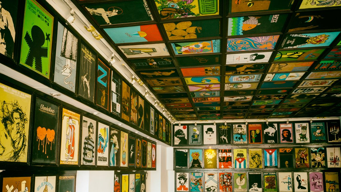 Film posters collection in Havana