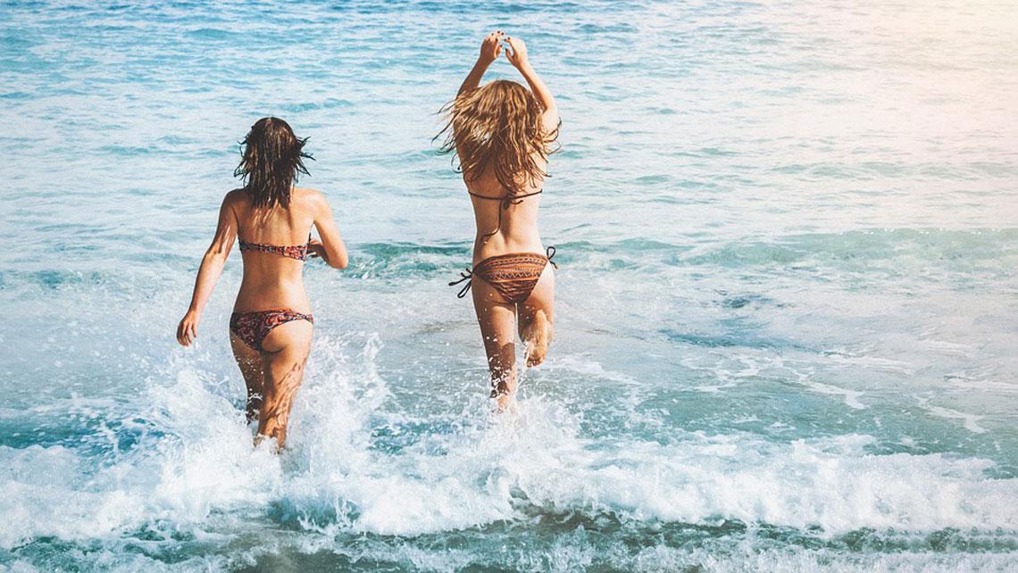Women enjoying the beach