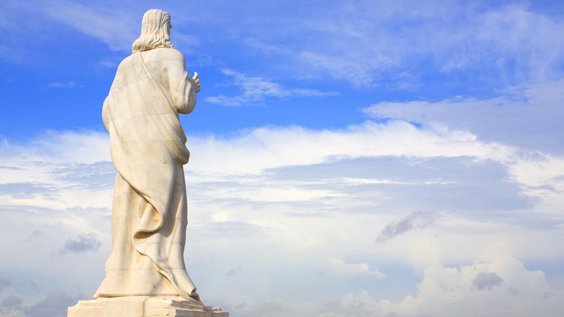 Majestic Statue of Christ overlooking Havana