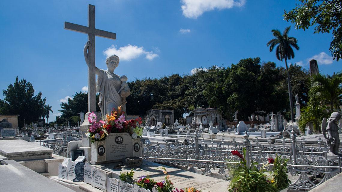 The tomb known as La Milagrosa in Colon cemetery