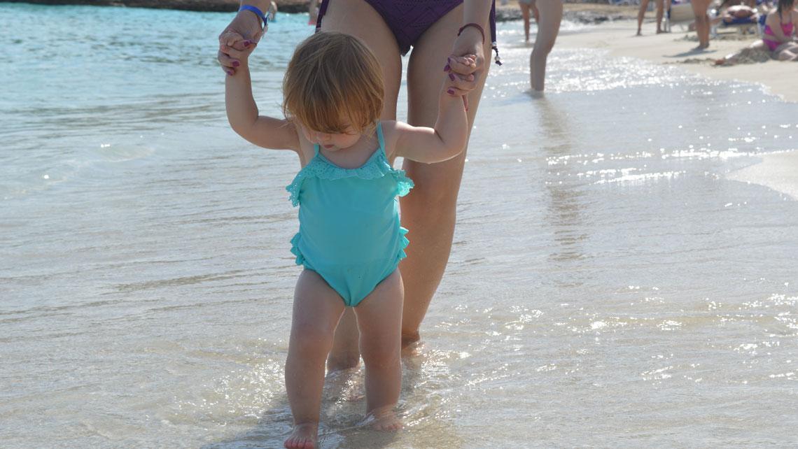 Walking in beach