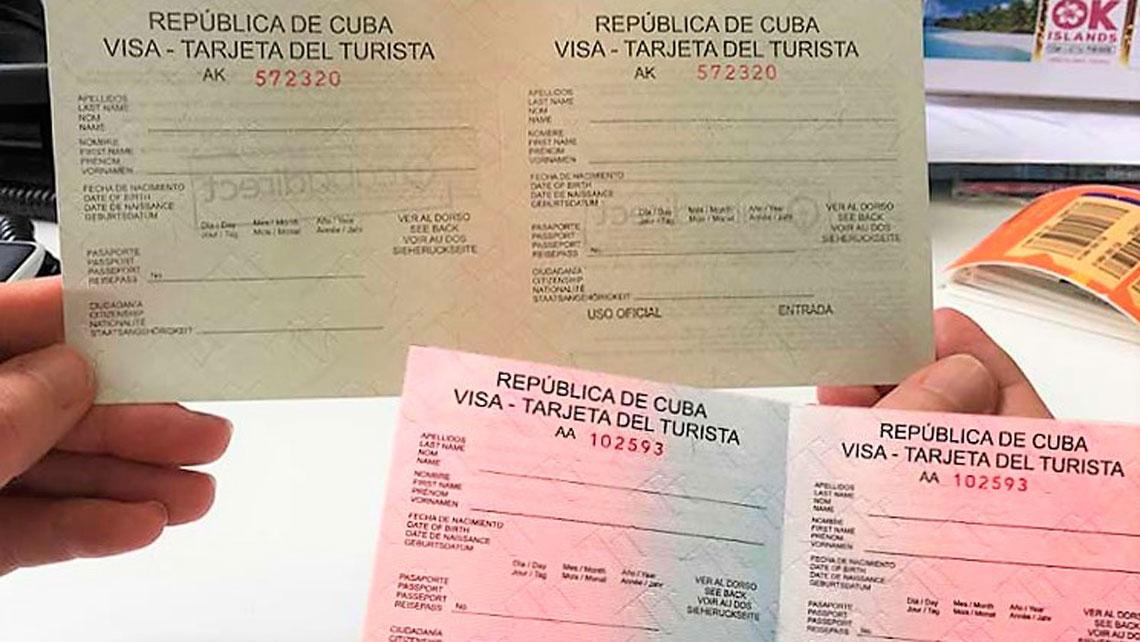 Cuban Tourist Cards