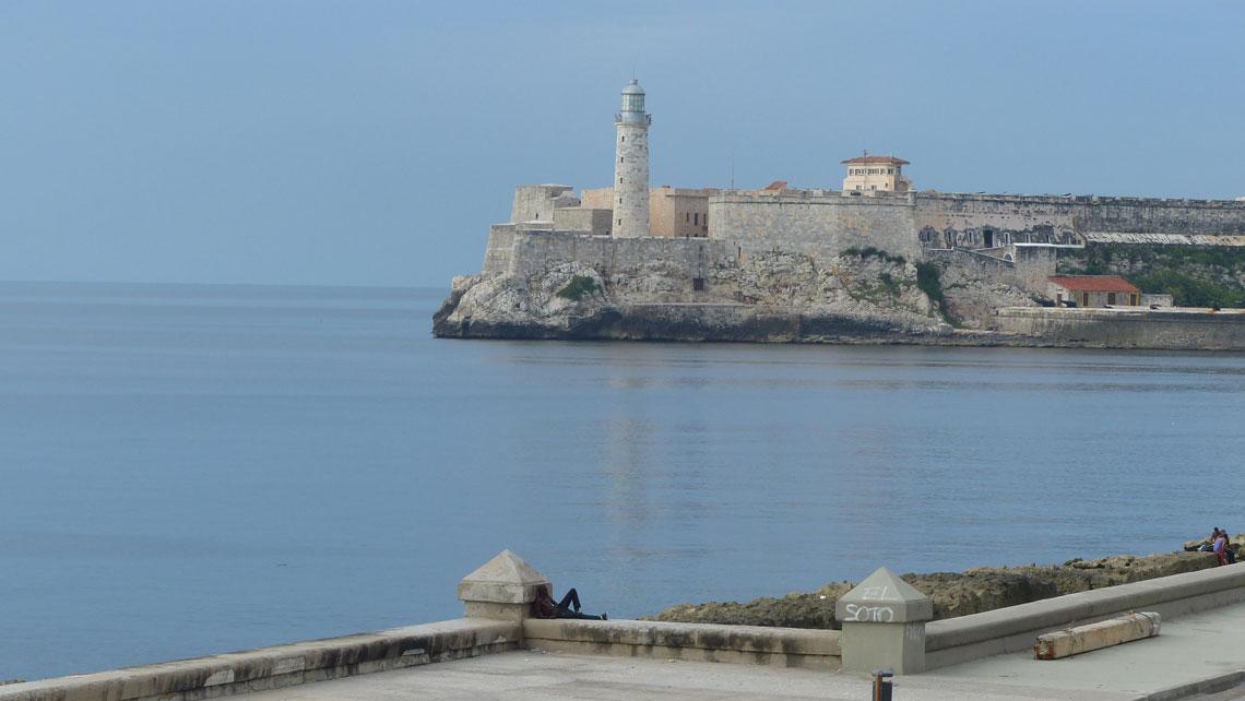 Morro Castle (Castillo de los Tres Reyes Magos del Morro), with the Faro Castillo del Morro lighthouse, in the entrance to Havana bay in Havana, Cuba