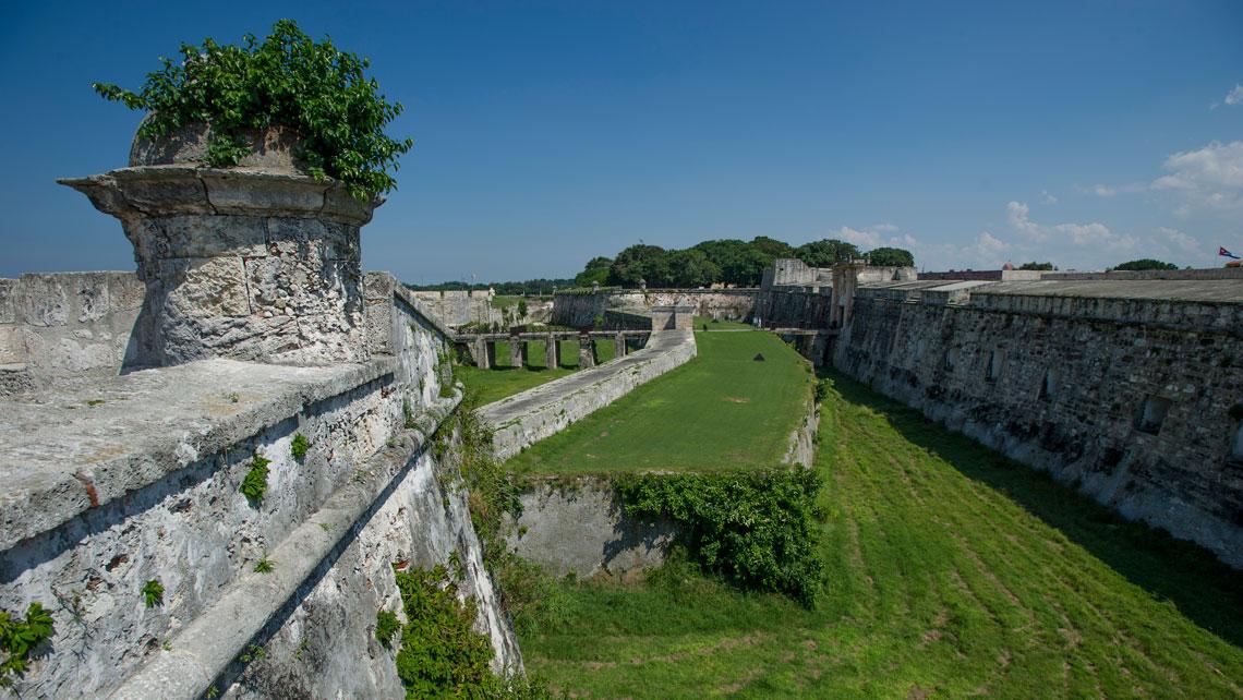 External walls of the fortress La Cabaña