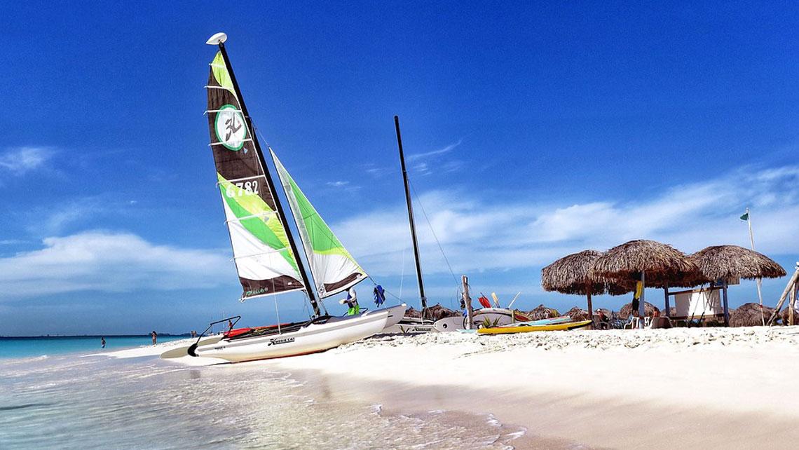 A Catamaran in a Cuban beach
