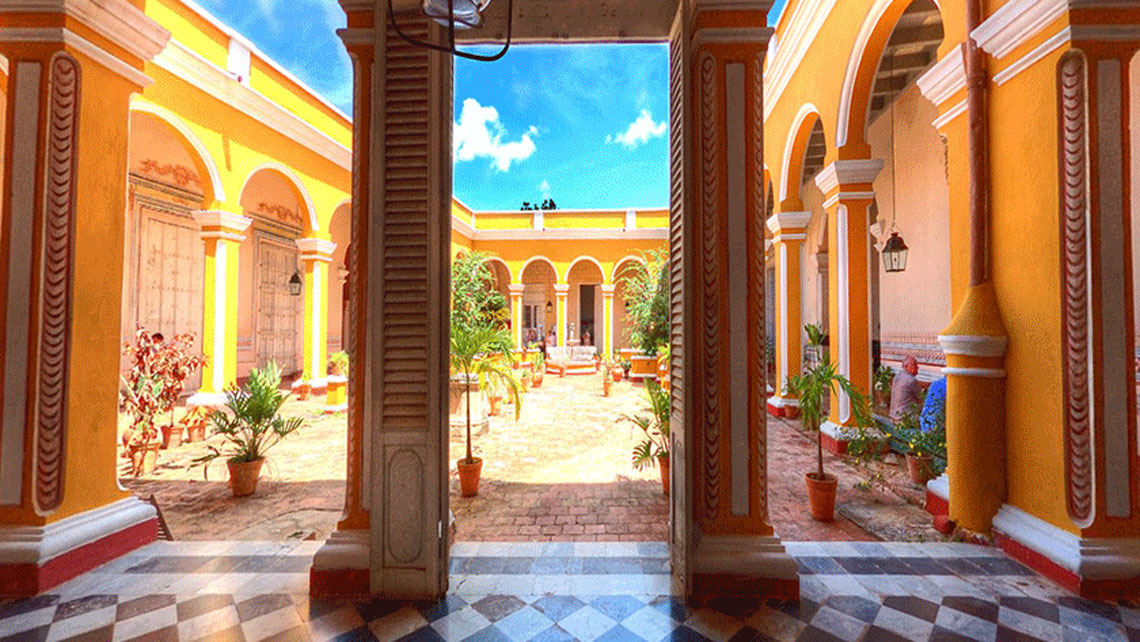Courtyard of Municipal Museum in Trinidad