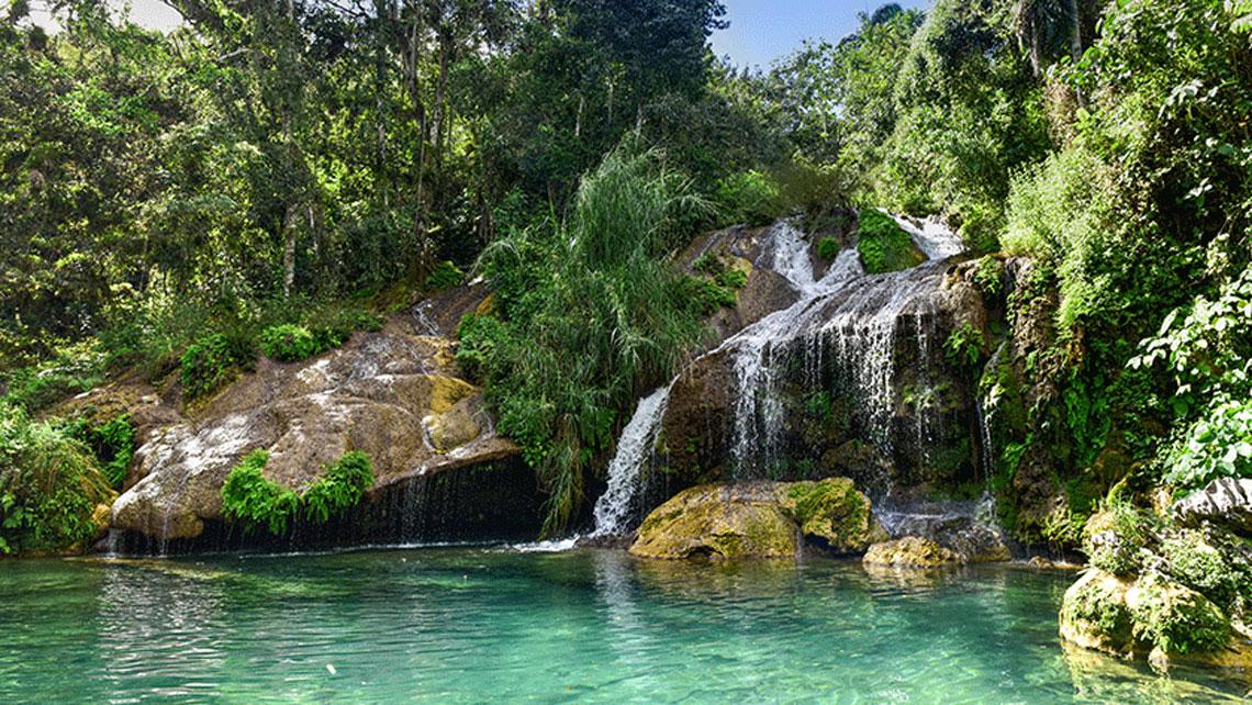 Waterfalls in the Escambray Mountain Range