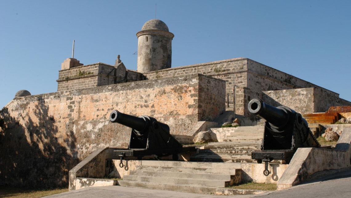 Cannons at the entrance of Castillo de Jagua