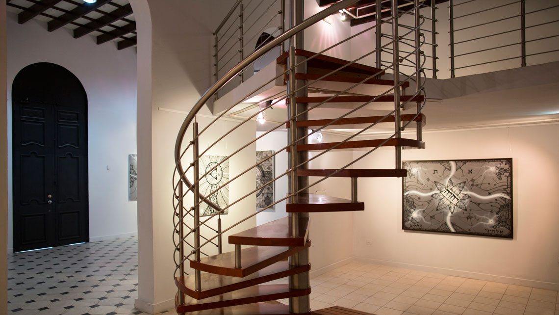 Spiral staircase in Galleria Villa Manuela