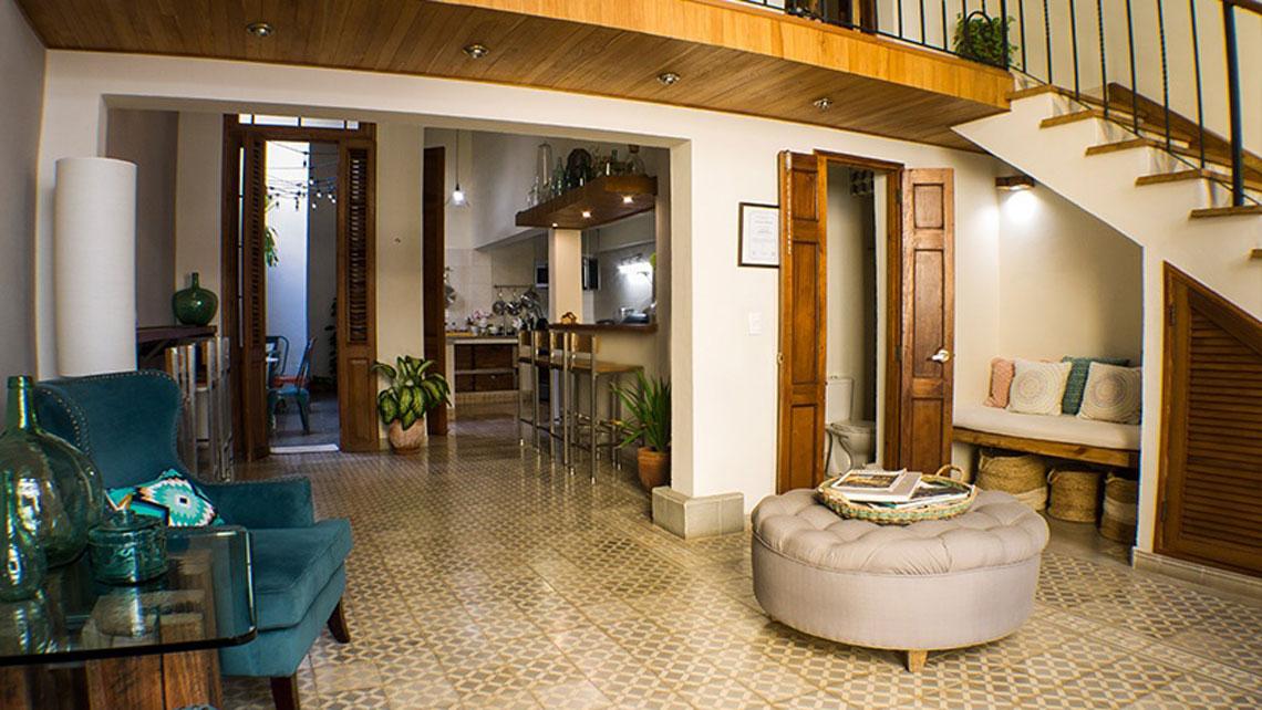 Cosy interior of casa particular Hostal Madero