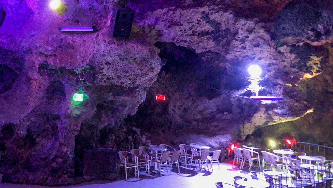 Interior of Disco Ayala known as the cave-club