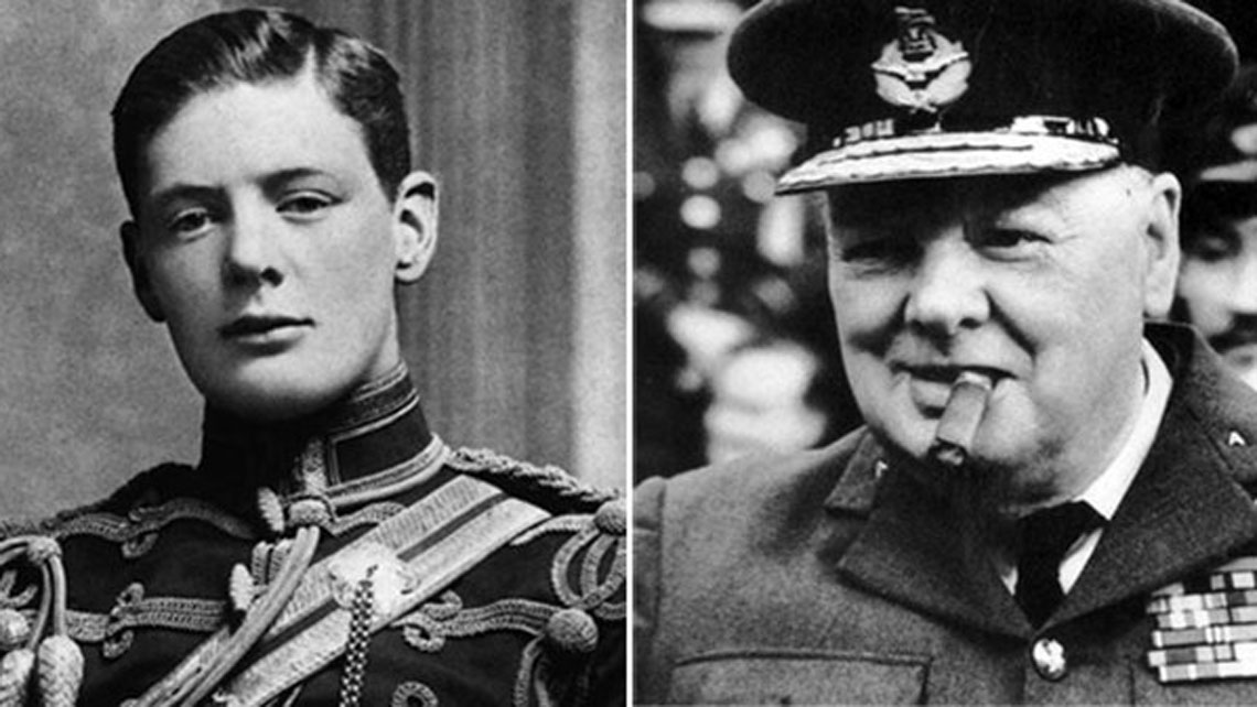 Wiston Churchill in two different moments of his life