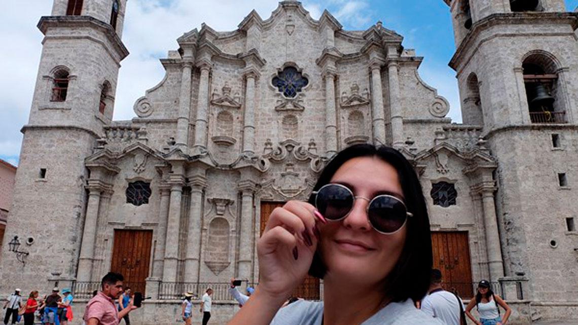 Selfie at Plaza de la Catedral, Havana