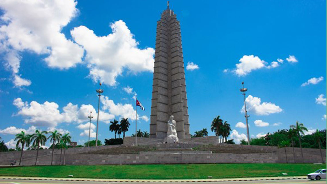The Revolution Square and Monument in Vedado neighborhood