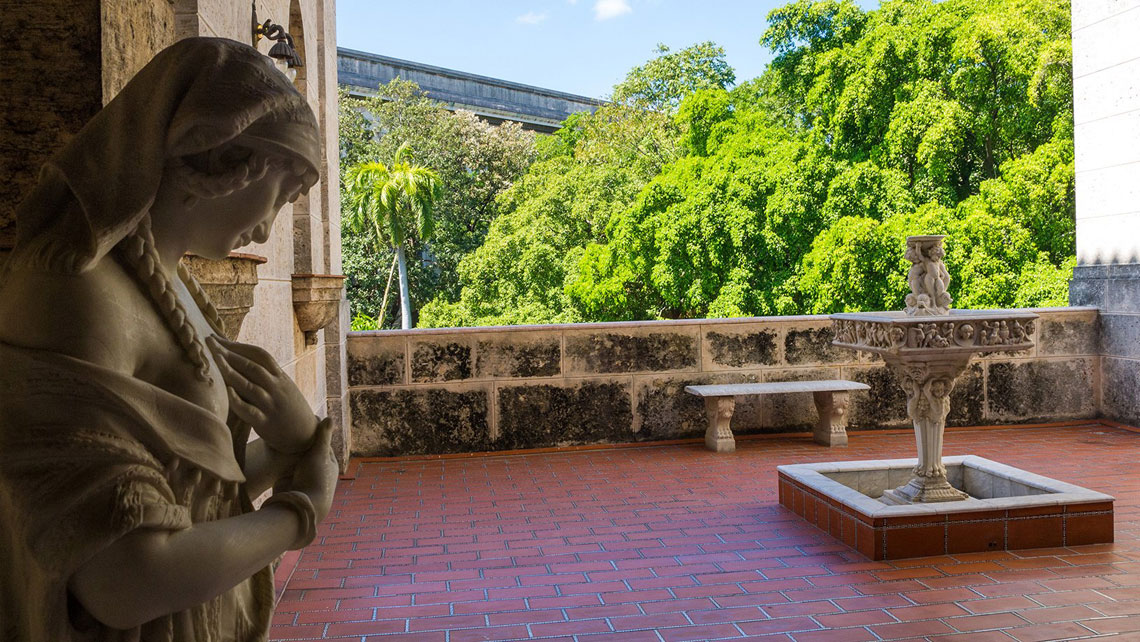 An open-air terrace in Napoleonic Museum, Havana