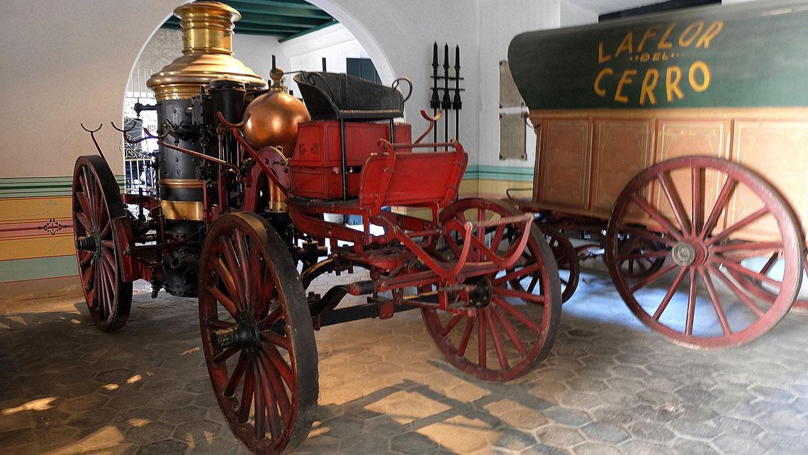 Steam locomotive in Havana's City Museum