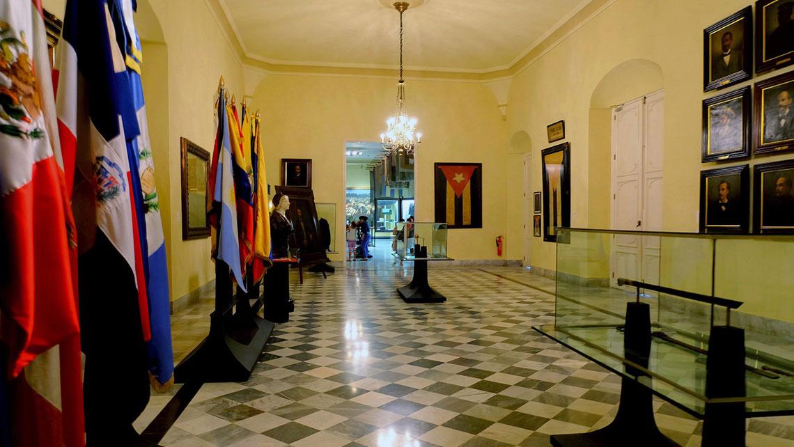 Hall of Flags in Havana's City Museum