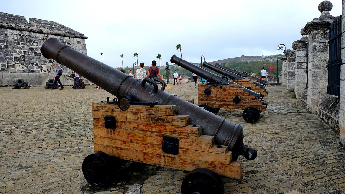 Old cannons in the Castle of the Royal Force, Havana