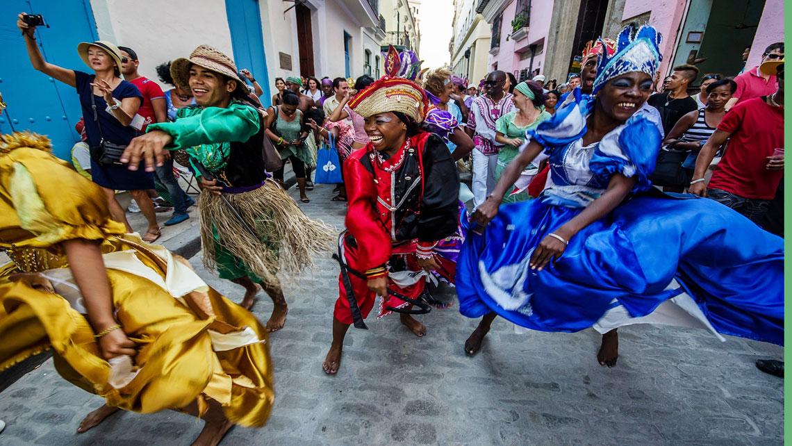 Dance of religious symbolism in Havana