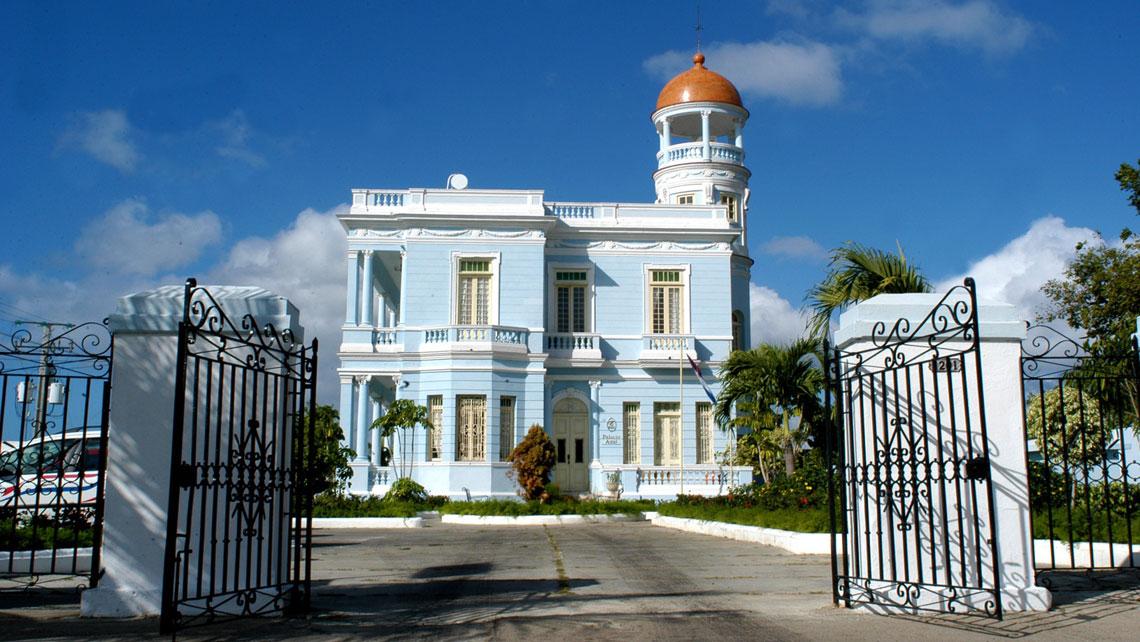 Iconic building Palacio Azul in Cienfuegos