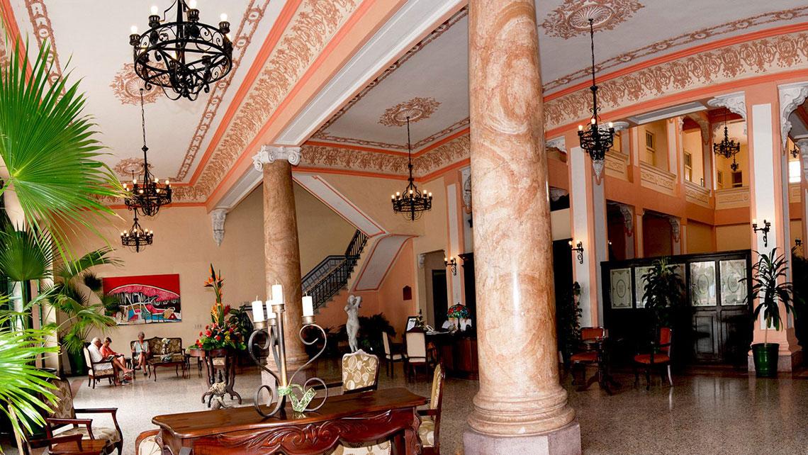 Elegant interior of Hotel Velasco in Matanzas
