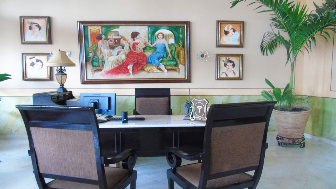 Interior of Hotel Central in Santa Clara