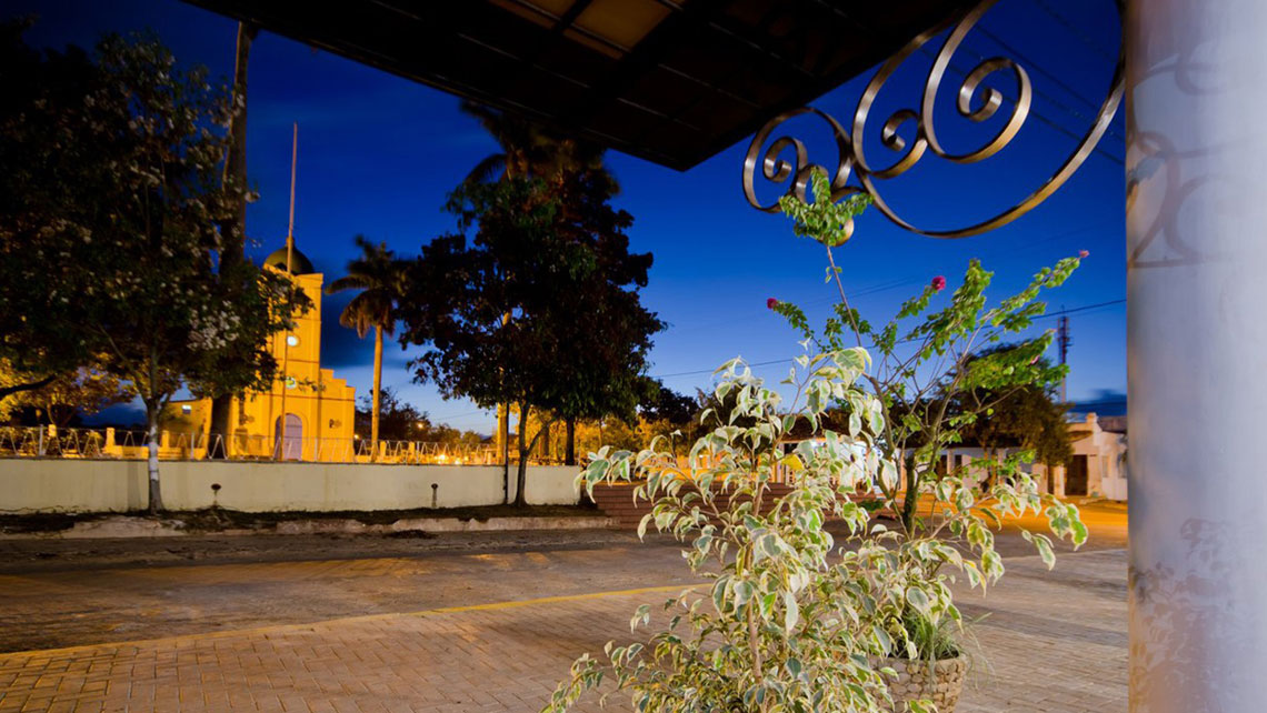 Plaza Principal viewed from Hotel Central in Viñales