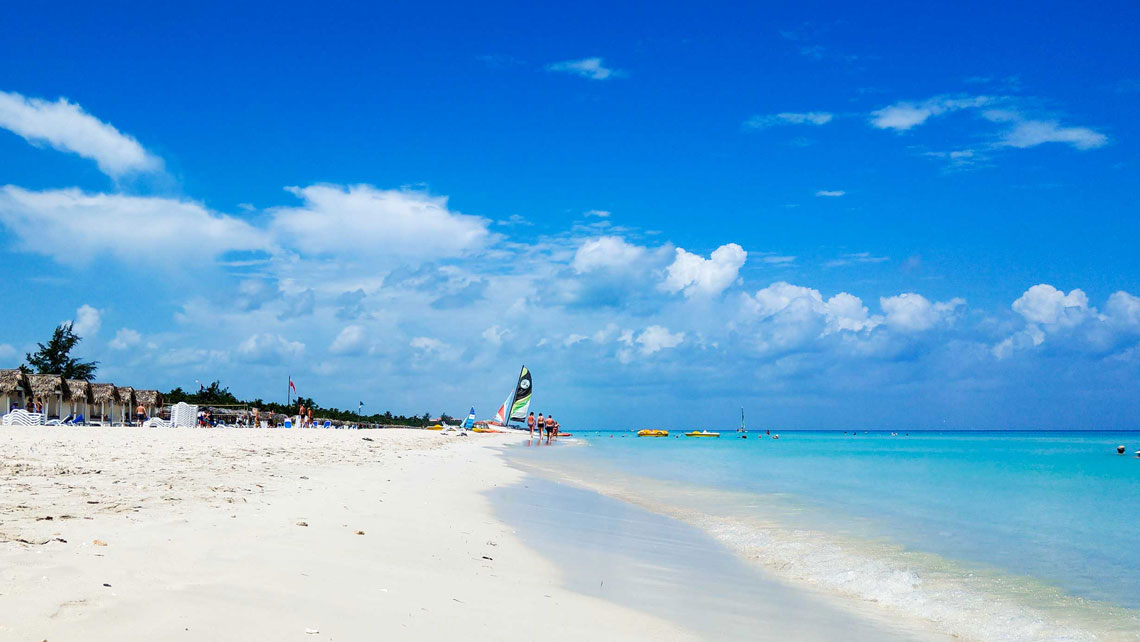 Powdery white sands and turquoise water of Varadero, Cuba