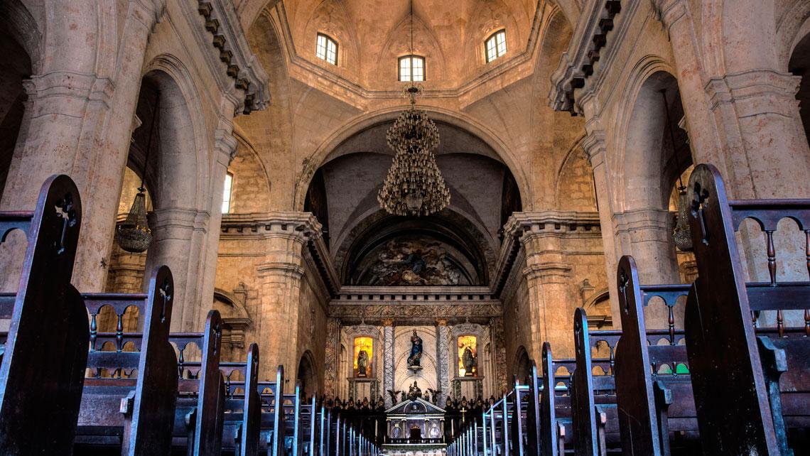 Interior of Cathedral of San Cristobal, Havana