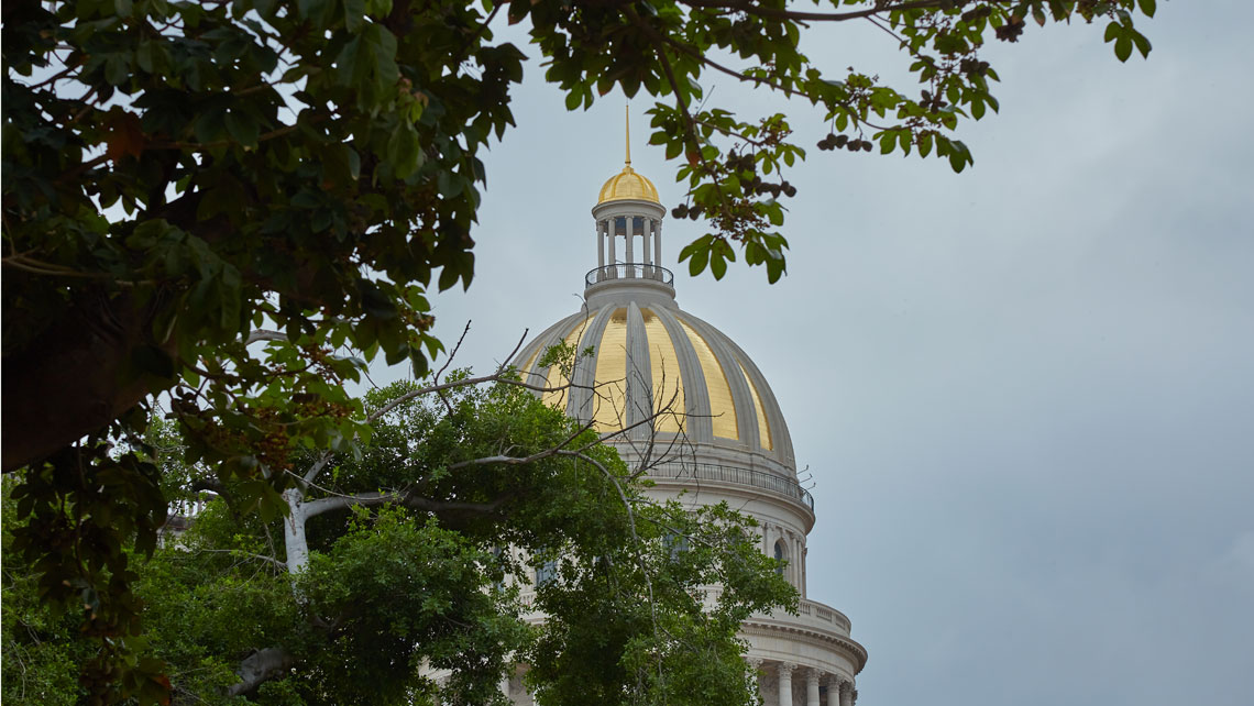 The National Capitolio building golden cupola in Havana, Cuba