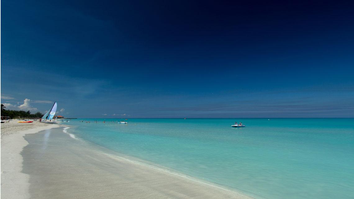 White sand on varadero beach, Cuba