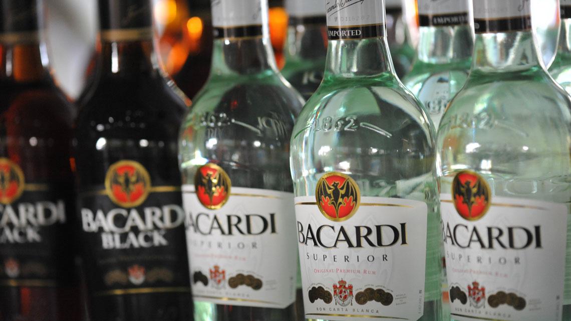 Bottles of Bacardi rum