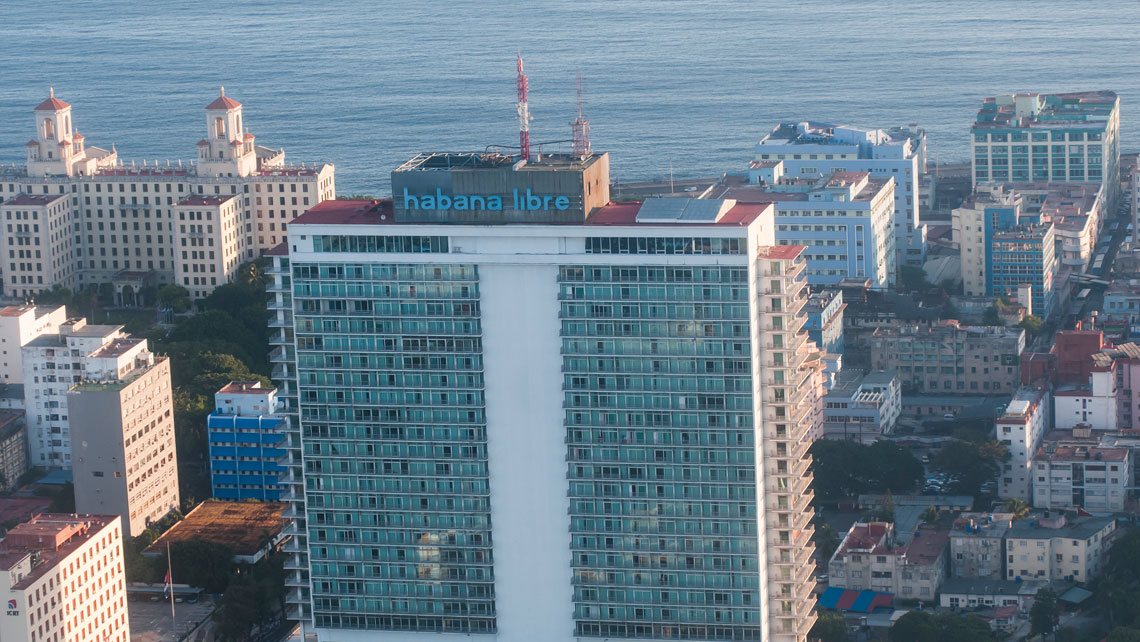 View of Habana Libre hotel located in El Vedado neighborhood