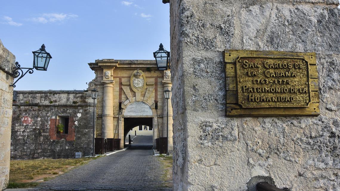 Main entrance to Fortaleza de San Carlos de la Cabaña, Havana