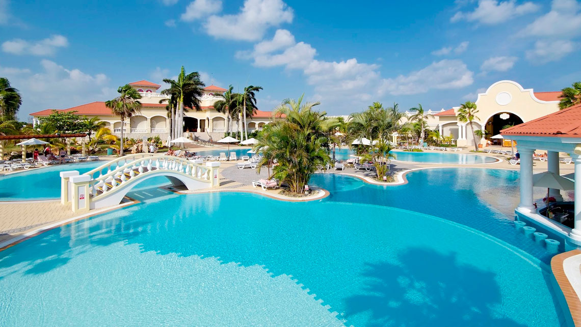 Panoramic view of the Paradisus Princesa del Mar one of the premier hotels in Varadero