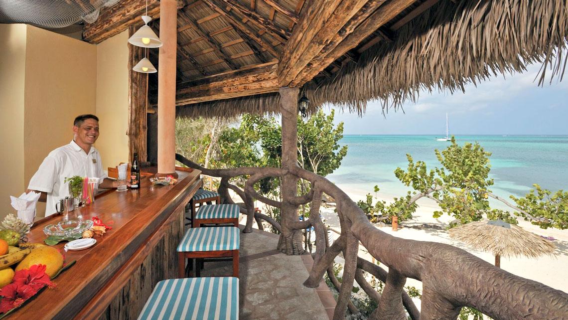 A bar of Paradisus Río de Oro overlooking Playa Esmeralda