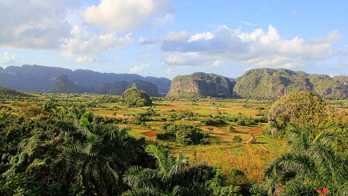 Panoramic view of Valle de Vinales in Pinar del Rio, Cuba