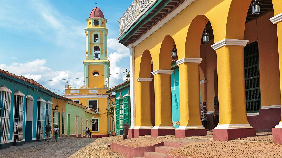 Colonial buildings in Trinidad, one of the oldest villages founded by Spanish and a Unesco World Heritage Site