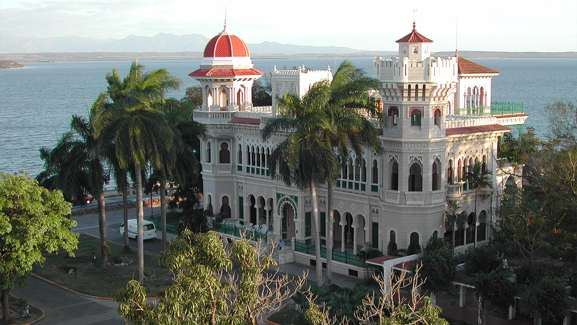 The Palacio de Valle is a beautiful example of Moorish architecture near the end of the Punta Gorda peninsula in Cienfuegos Cuba
